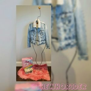 *NEW* American Eagle Teddy Lined Jean Jacket🐻